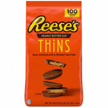 Reese's Peanut Butter Cup, Thins, 100 unidades
