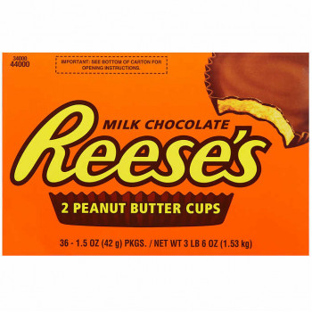 Reese's Peanut Butter Cups, chocolate con leche, 1.5 oz, 36 unidades